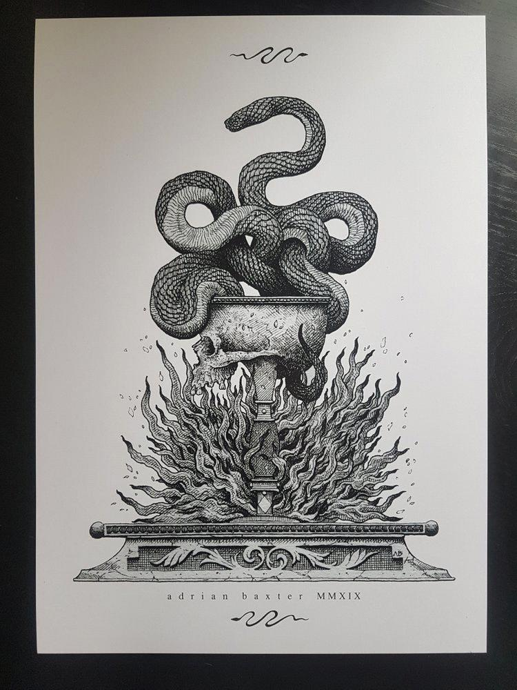 alteredside Adrian Baxter - death life occult in the ink