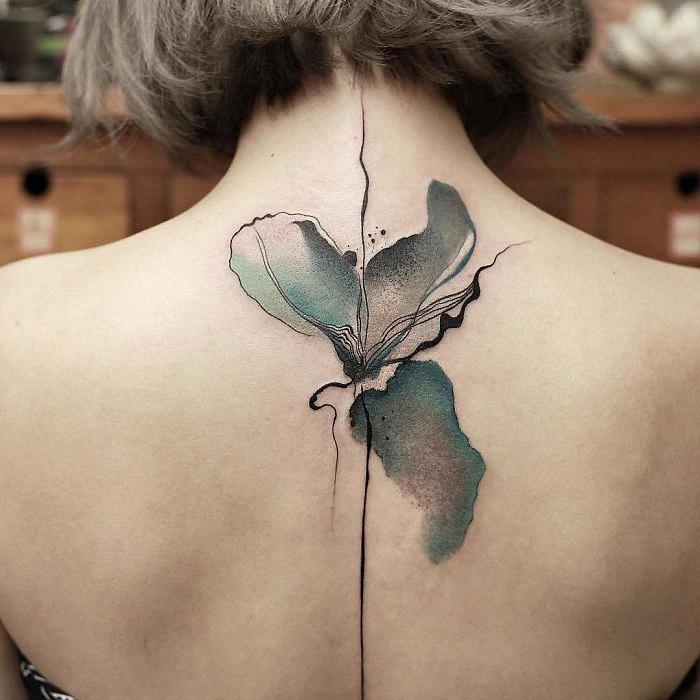 alteredside Chen Jie - intricate watercolor tattoos
