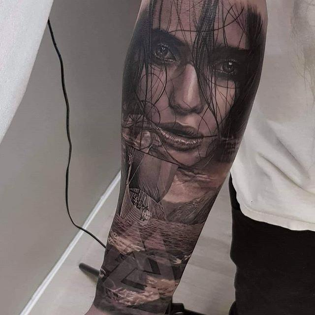 alteredside Oskar Nybraten - realistic black and gray