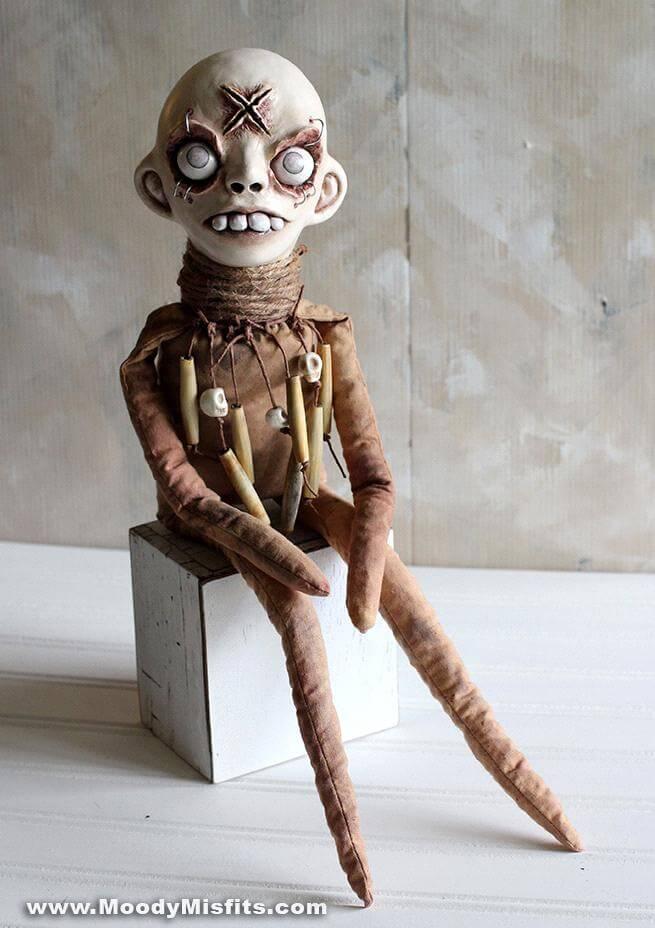 alteredside Moody Misfits by Jade Perez - creepy hand made dolls